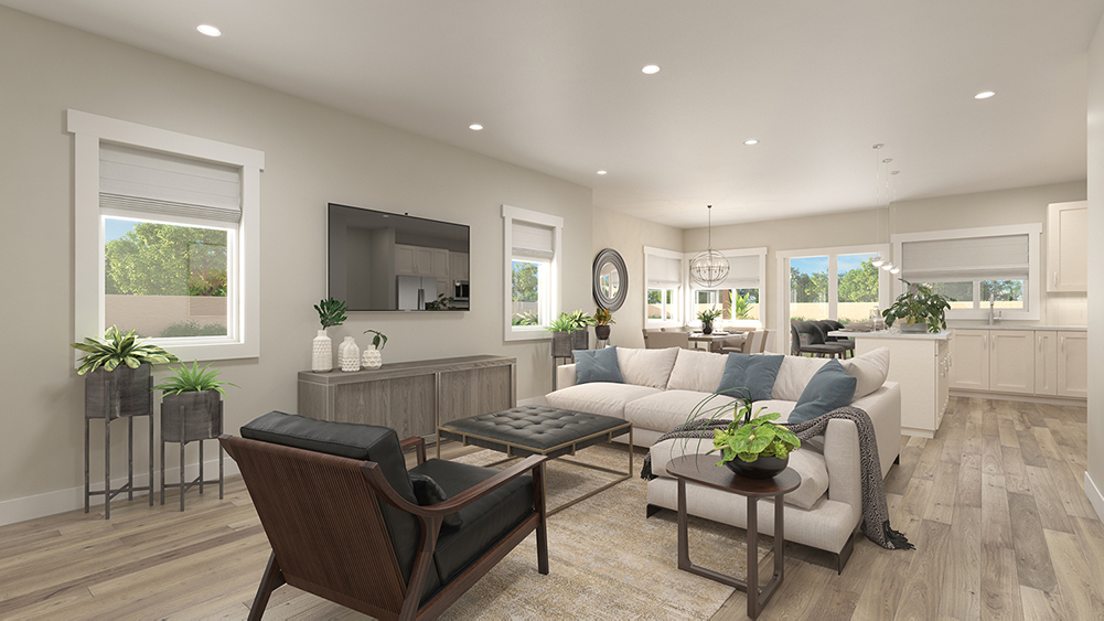 Cannon Trail 3d Rendering - Living Room