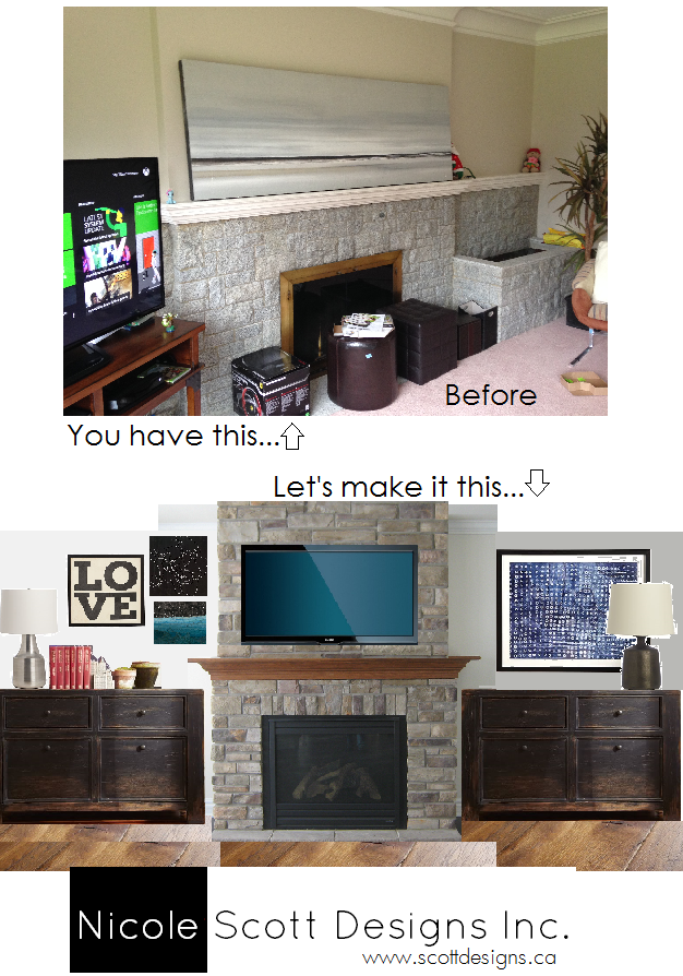 fireplace concept