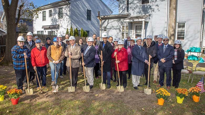 groundbreaking at the River Avenue extension