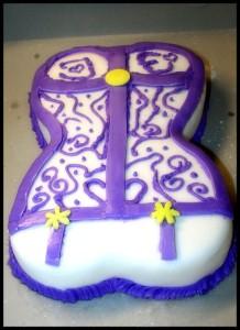 tricias list bustier cake