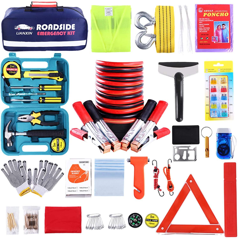 Road trip essentials emergency roadside kit