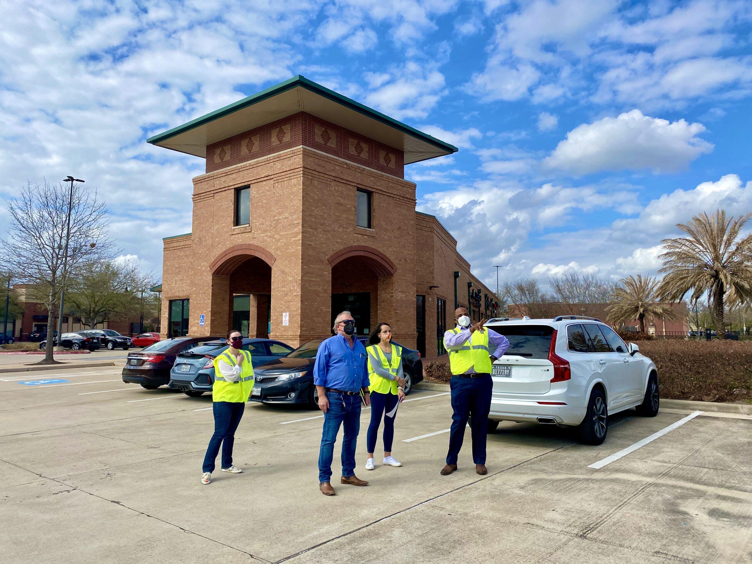 The Energy Corridor District's Executive Director, Elijah J. Williams, leads a site tour.