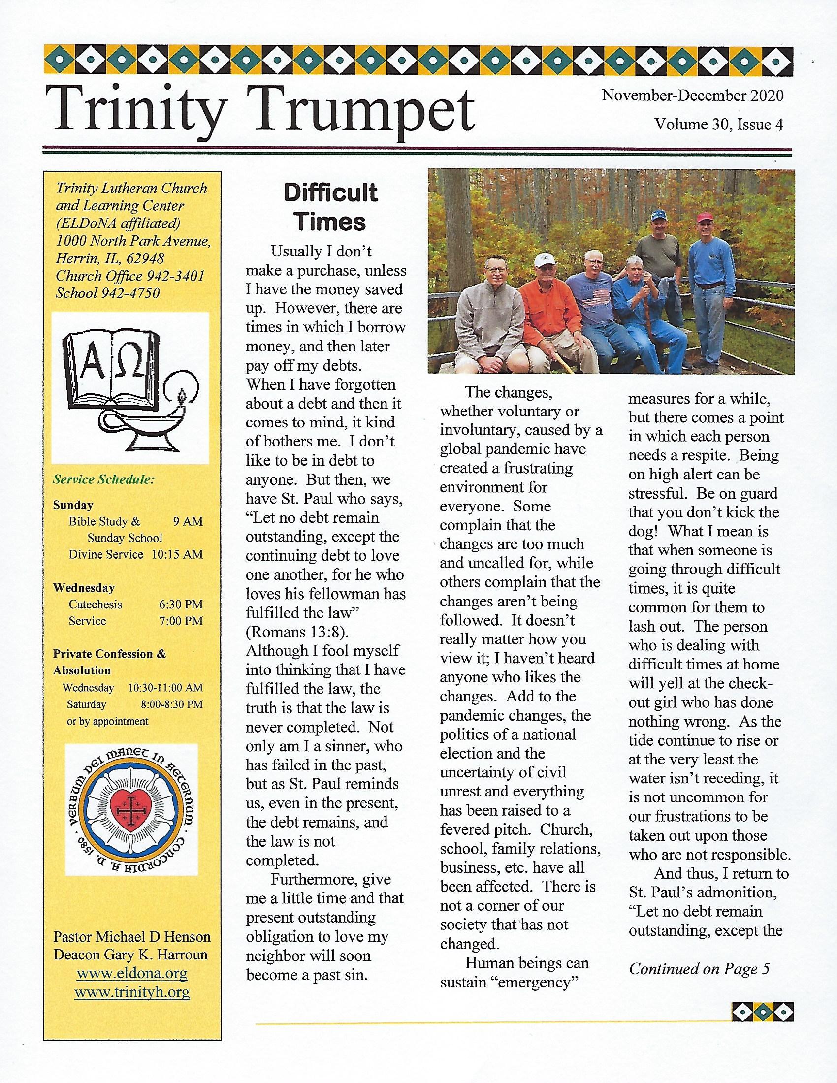 Newsletter Nov Dec Front