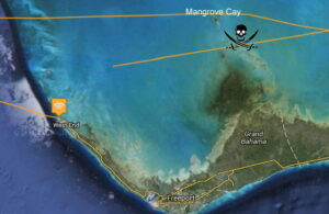 GPS Route from West End to Mangrove Cay
