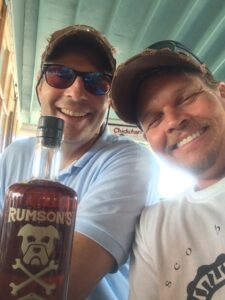 Steve Orne and Eric at Snappa's, Marsh Harbor, Abaco Bahamas