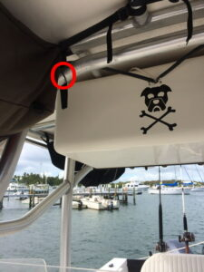 Damage to Pirate Dog T Top