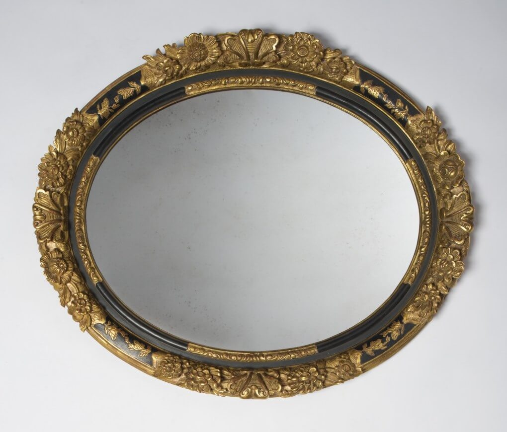 Hand carved Oval Black Lacquer and 22k Gold Leaf Oval Frame, Custom oval frame, custom oval mirror frame chicago