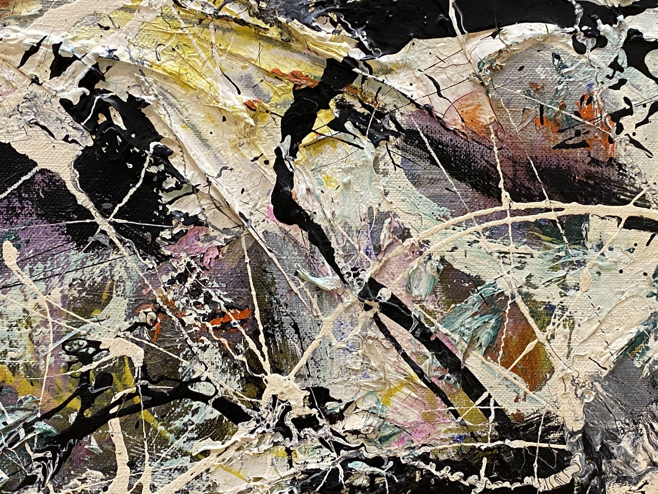 Jackson Pollock AIC chicago Grayed Rainbow, 1953 Oil on Linen, painting conservation Chicago