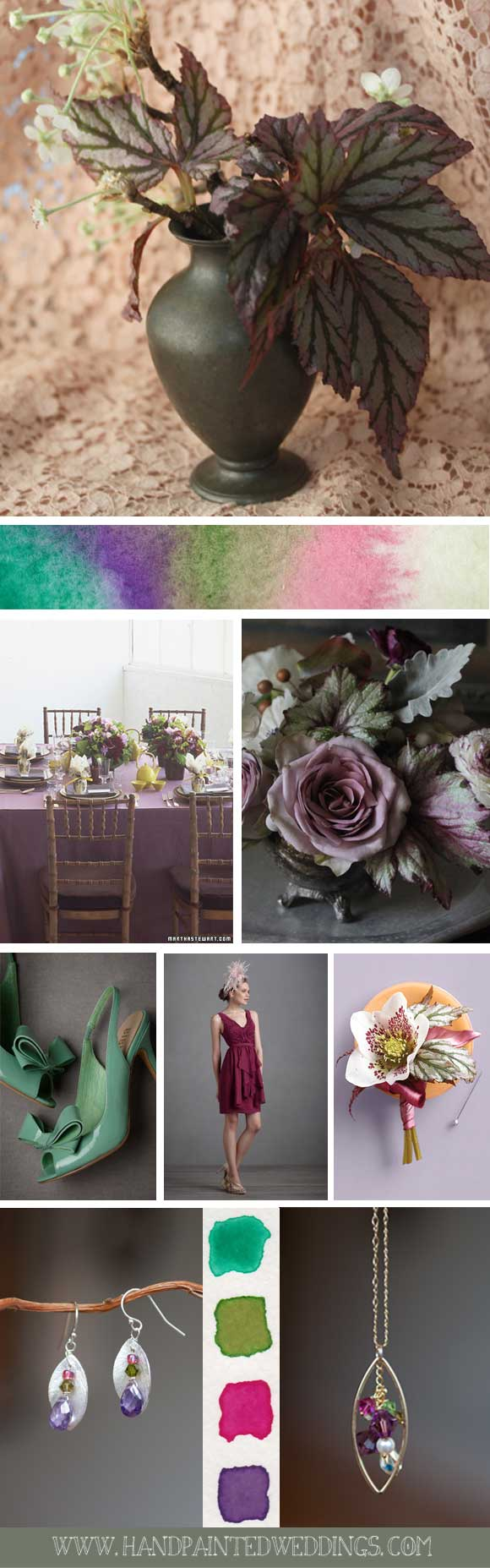 Hand-Painted Reception: Inspired by Colorful Leaves