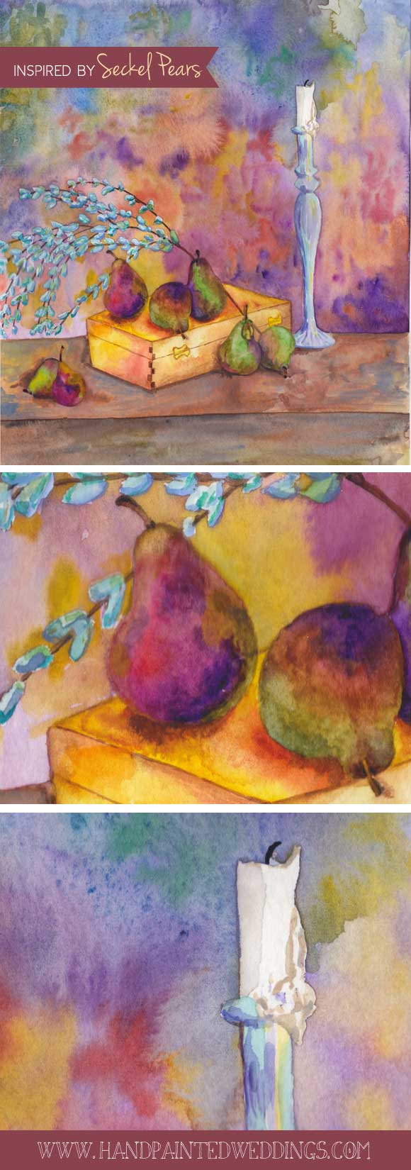 Work in Progress: Seckel Pear Still Life
