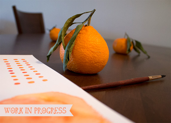 Work in Progress: Orange Pattern Studies
