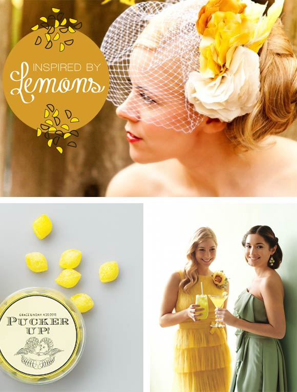 Inspired by Lemons board curated by Hand-Painted Weddings