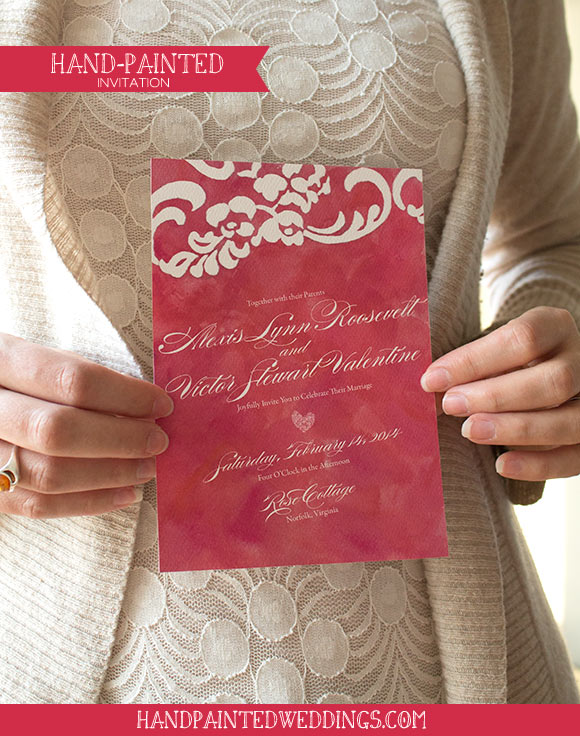 Hand-Painted Romantic Lace Reception