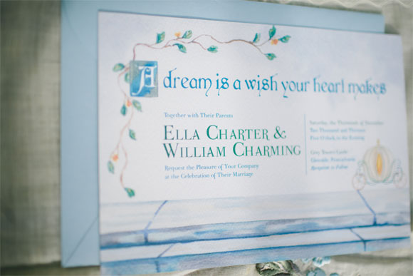 Cinderella Invitation by Hand-Painted Weddings. Photos & Styling by Krista Leigh Hurst.