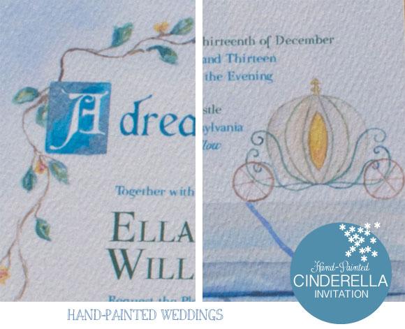 Cinderella Invitation by Hand-Painted Weddings