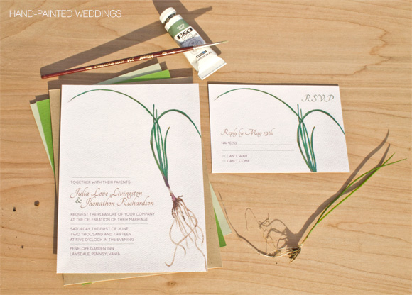 Hand-Painted Roots Invitation