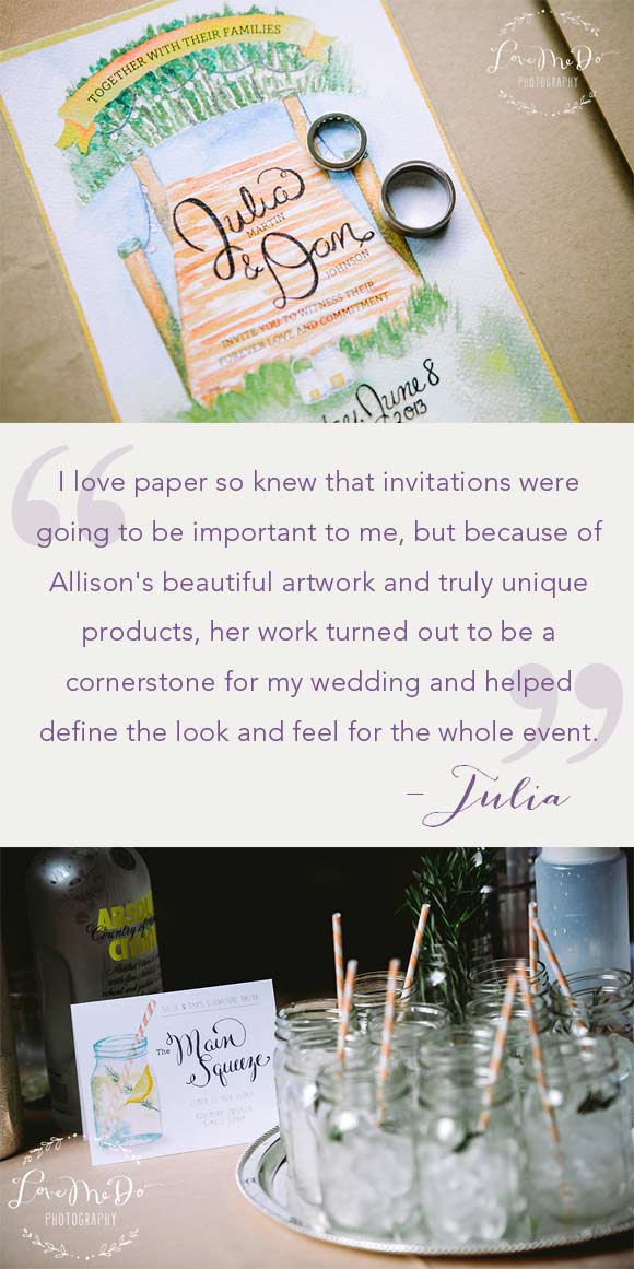 Wedding Paper is the Glue to the Wedding