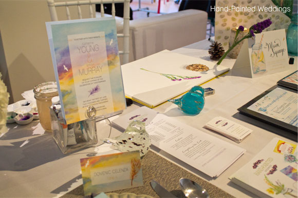 Hand-Painted Weddings table at Wed Altered 2013