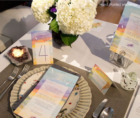 Hand-Painted Weddings Table at Wed Altered