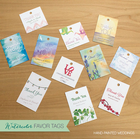 New in the Shop – Watercolor Favor Tags
