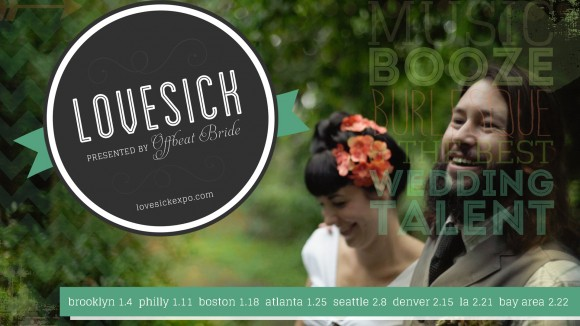 Lovesick Expo - Hand-Painted Weddings will be there!