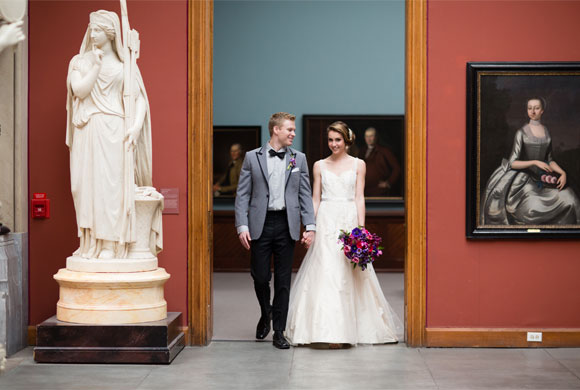 PAFA Styled Gallery Wedding. Photos by Asya Photography. Coordinated by Truly You Events.  Paper by Hand-Painted Weddings.