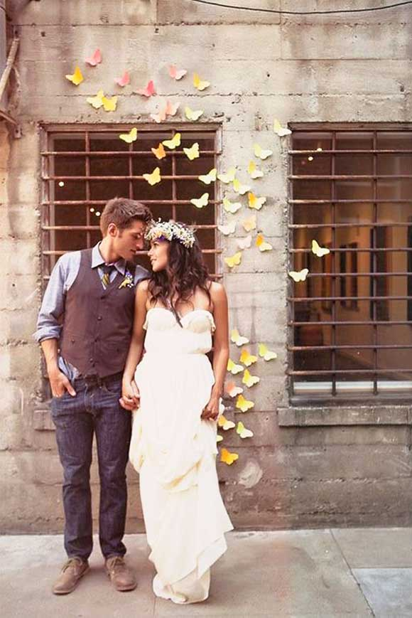 Butterfly wedding inspiration curated by Hand-Painted Weddings