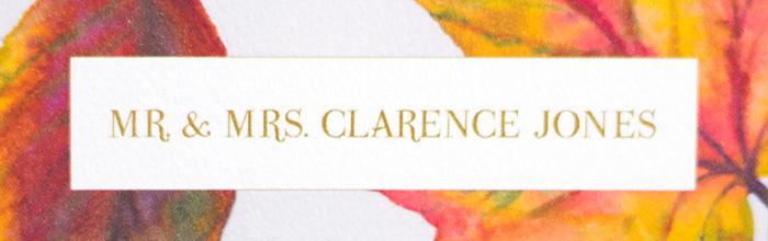 Autumn Leaves Escort Cards