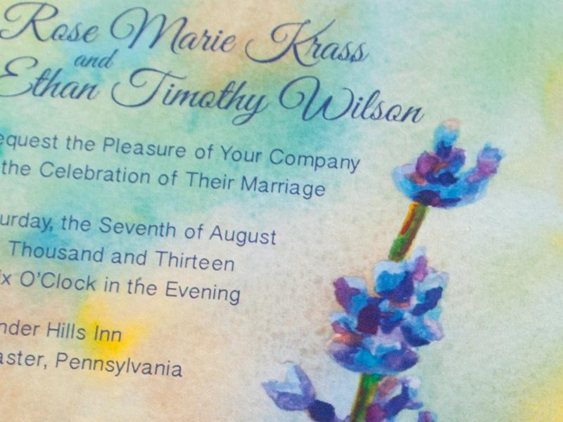 Hand-Painted Invitation: Lavender