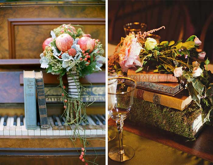 Literature Wedding Inspiration curated by Hand-Painted Weddings