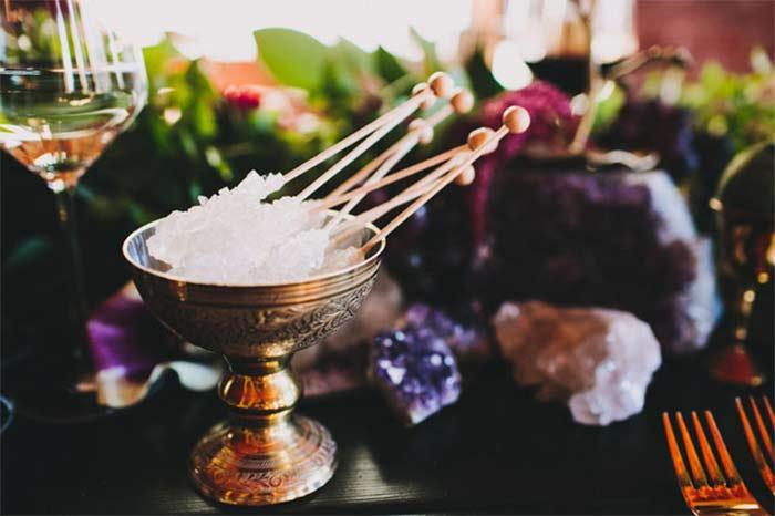 Amethyst Gemstone Wedding Reception Inspiration