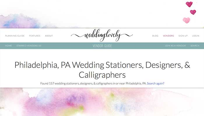 Philadelphia Wedding Stationery Introduction on WeddingLovely now Live!