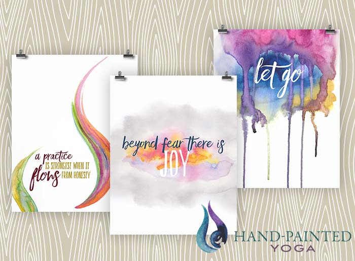Introducing Hand-Painted Yoga – Art inspired by yoga