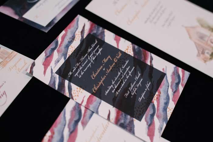 Dreamy Lilly Pulitzer Inspired Wedding invitations