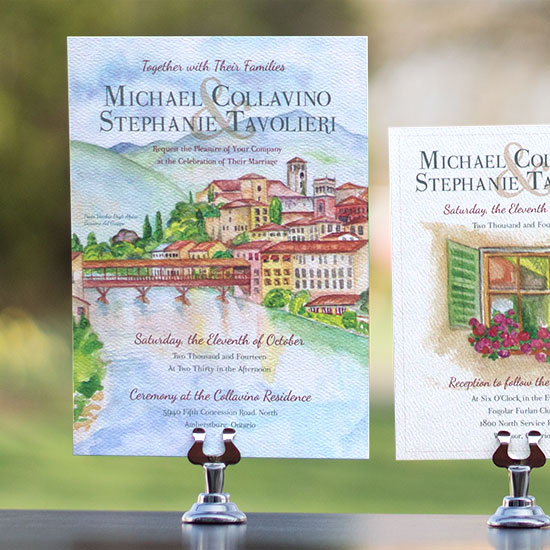 Tuscany Wedding Invitation