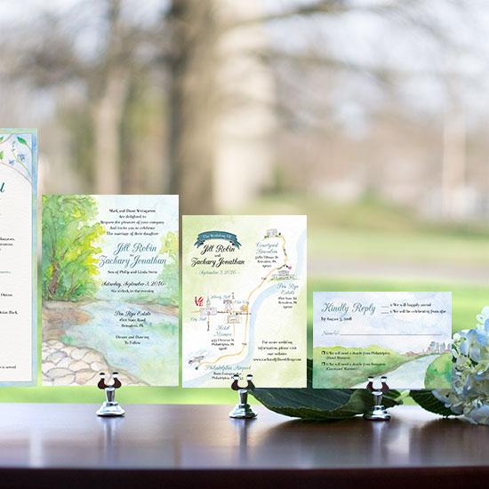 Fairmount Park Wedding Invitation Set