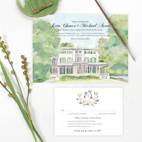 Glen Foerd Wedding Invitation