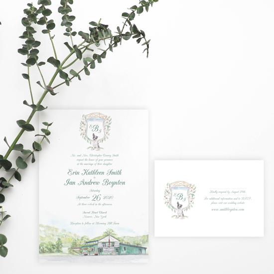Blooming Hill Farm Wedding Invitation Set