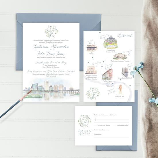 Science Museum of Virginia Wedding Invitation