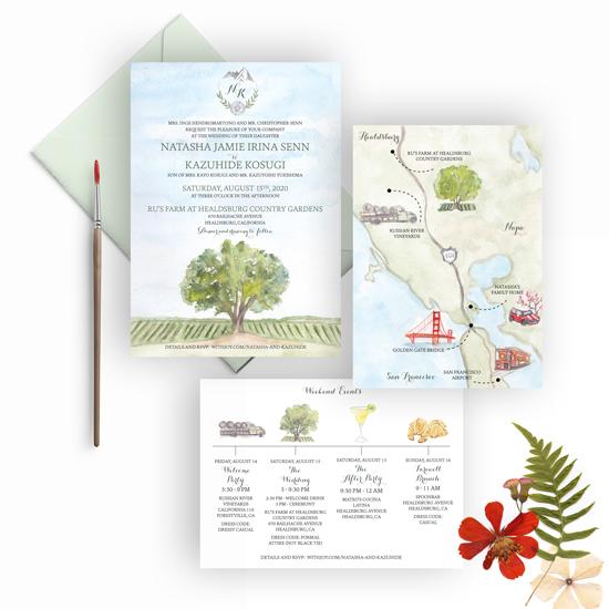 Ru's Farm at Healdsburg Country Garden – Sonoma vineyard wedding