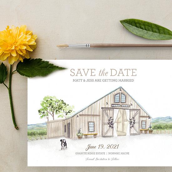 Granite Ridge Estate Wedding Save-the-Date