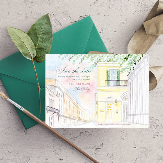 New Orleans Wedding Save-the-Date