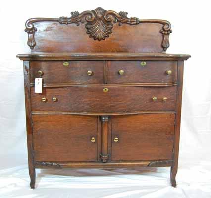 1800s Oak Sideboard