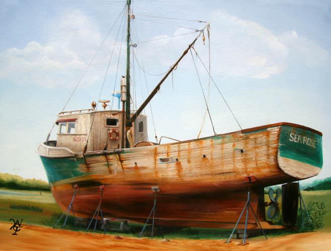 Sea Rose - Oil on Canvas by William C. Turner