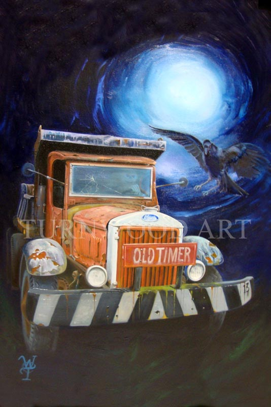 Old Timer - Oil on Canvas by William C. Turner