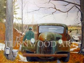 Sap Run - Oil on Canvas by William C. Turner