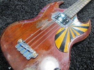 San Francisco Guitarworks, Gibson EB-O Electric Bass Repair Restoration