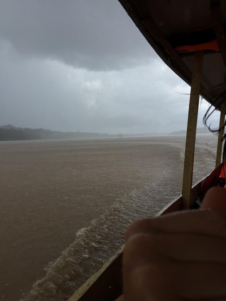 rain on the river like bullets