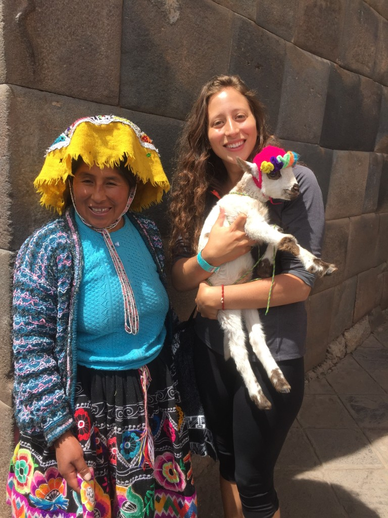 Only costs a few soles to hold a baby alpaca in Peru