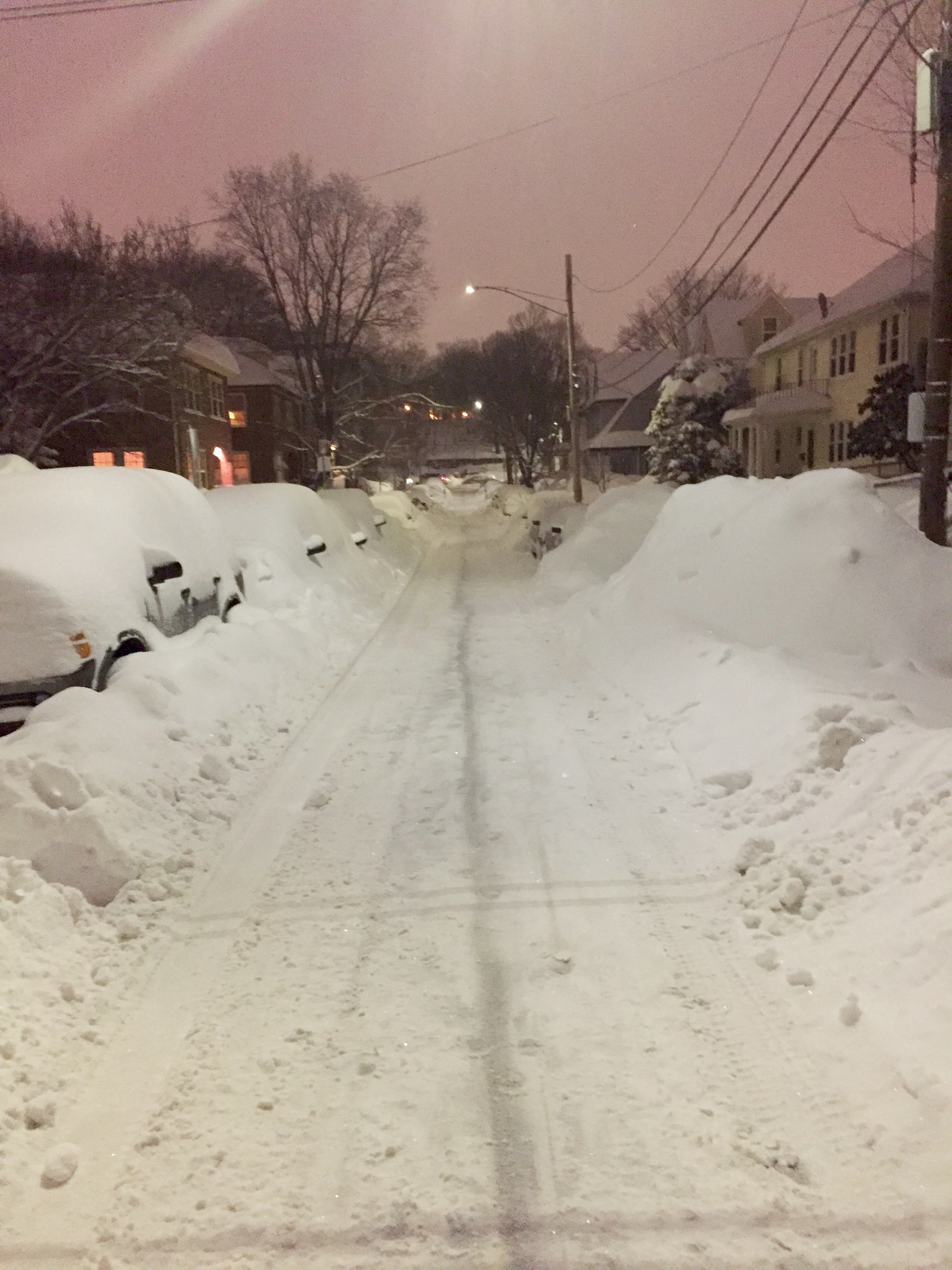 winter in Arlington, Massachusetts